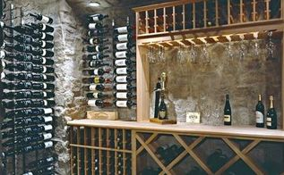 wine cellar preferences, entertainment rec rooms, home decor, storage ideas, Wood racking