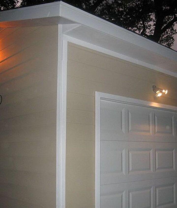 Exterior lighting was added