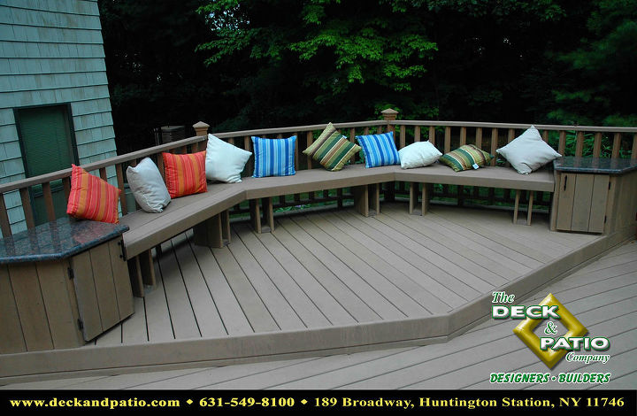 Trex deck with comfy bench