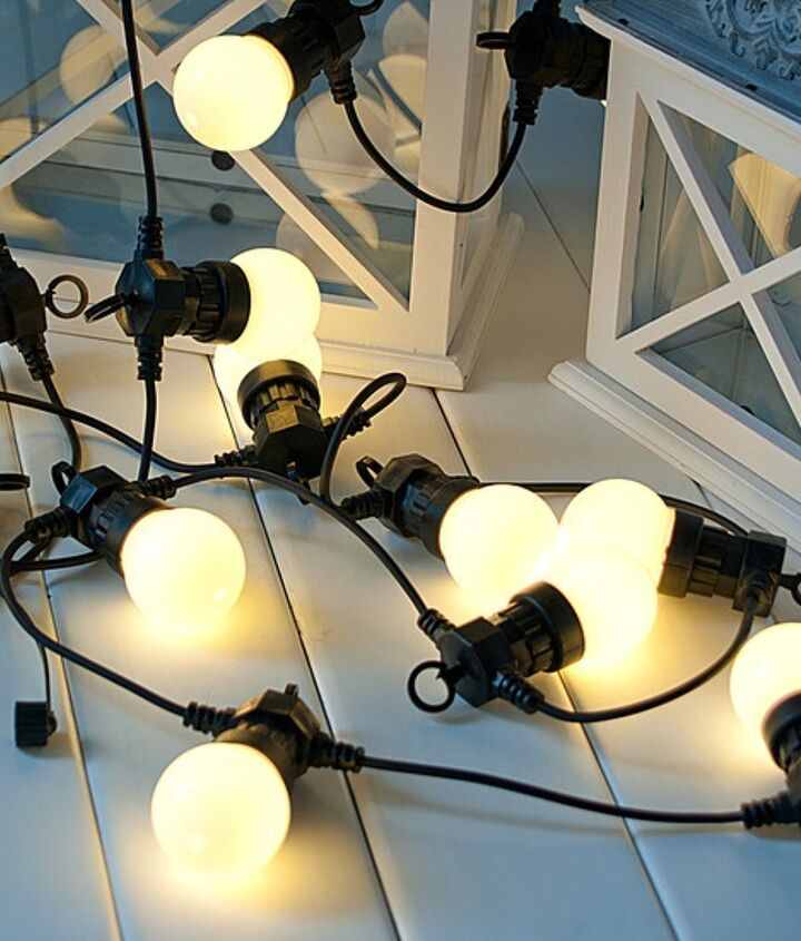 We are up changing out our previous incandescent lights to newer LED patio lights. We got the strings and lights from Christmas Lights Etc and saved a ton of money vs our retail locations. Which is helpful since we provide so much food