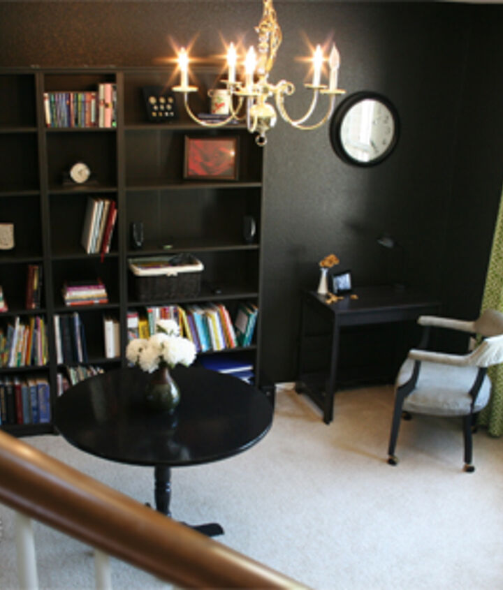 our unused dining room transformed into an elegant library, home decor