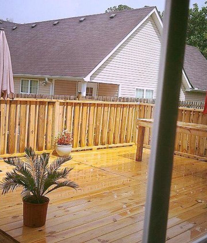 q how long should i wait to stain or paint my new deck, decks, painting