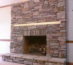 manufactured stone veneer that i installed in dry stack over a drab rh hometalk com install manufactured stone fireplace install manufactured stone fireplace