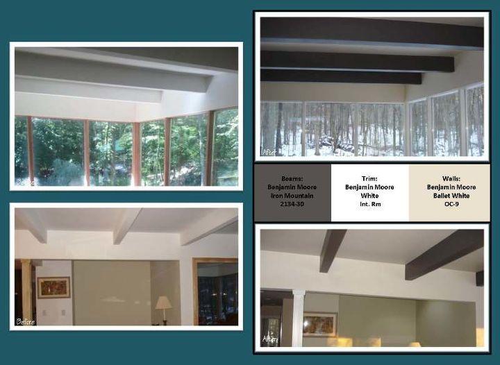 Interior Living Room & Beam Paint