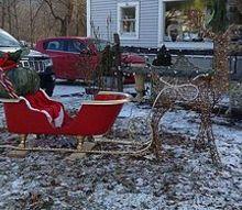 santa s sleigh holiday christmas decoration claw foot tub, christmas decorations, repurposing upcycling, seasonal holiday decor, Santa s New Claw Foot Tub Sleigh