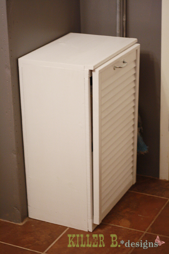 Tilt Out Trash Cabinet From Salvaged Shutter Doors Kitchen Cabinets Woodworking Projects