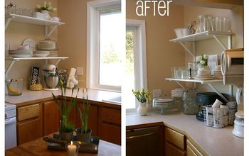 FREE Kitchen 'Cabinet to Shelf' Makeover!