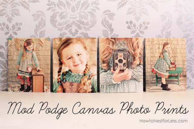 Mod Podge Canvas Photo Prints