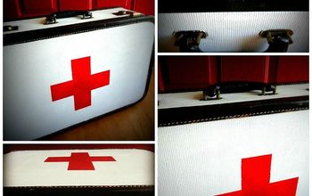 Vintage Red Cross Suitcase Tutorial