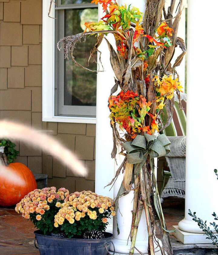 my southern fall porch, outdoor living, seasonal holiday decor