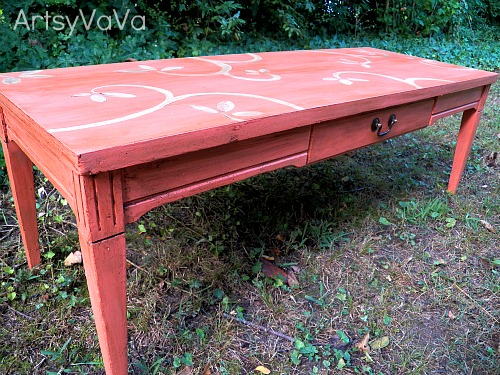 coral is the hot color of the season, chalk paint, painted furniture