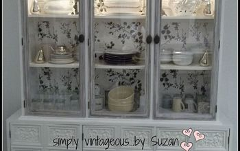 Restoring a Buffet/hutch With Wallpaper