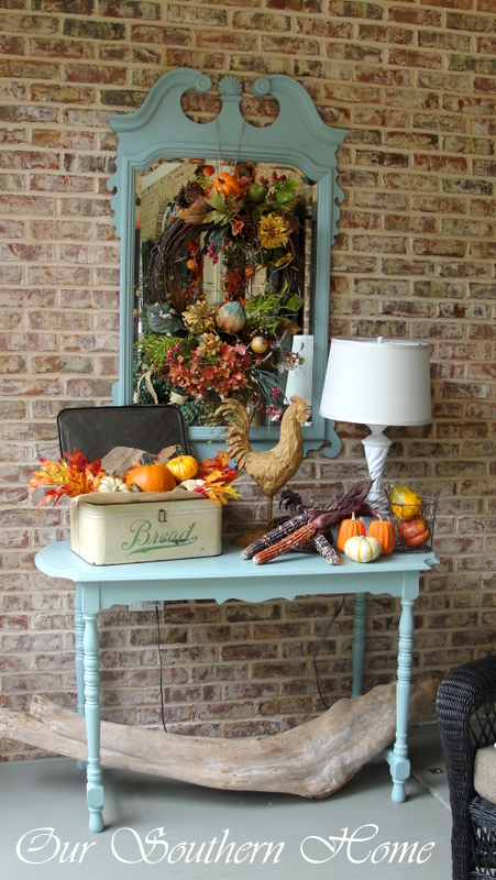 Many thrift store finds decorate our porch and home. Visit my blog to see how I incorporate them.
