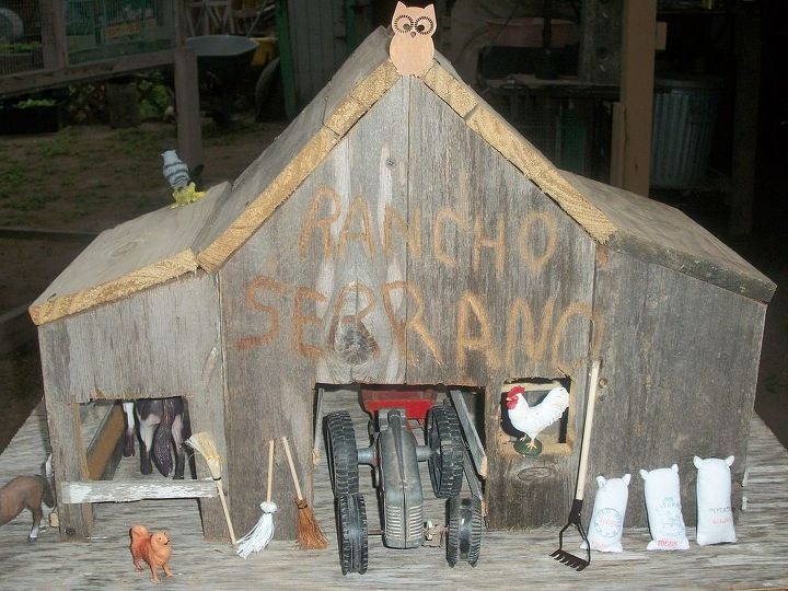 rustic wooden barn, diy, woodworking projects