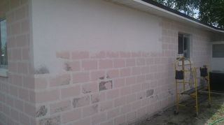 q any ideas on how to texture existing exterior painted block walls here in orlando fl, curb appeal, painting