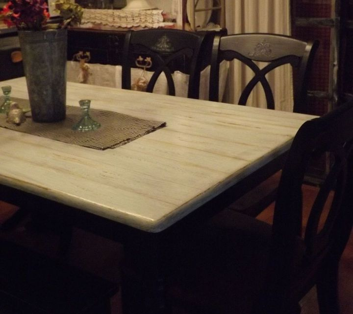 farm house table and chairs redo a marriage, painted furniture