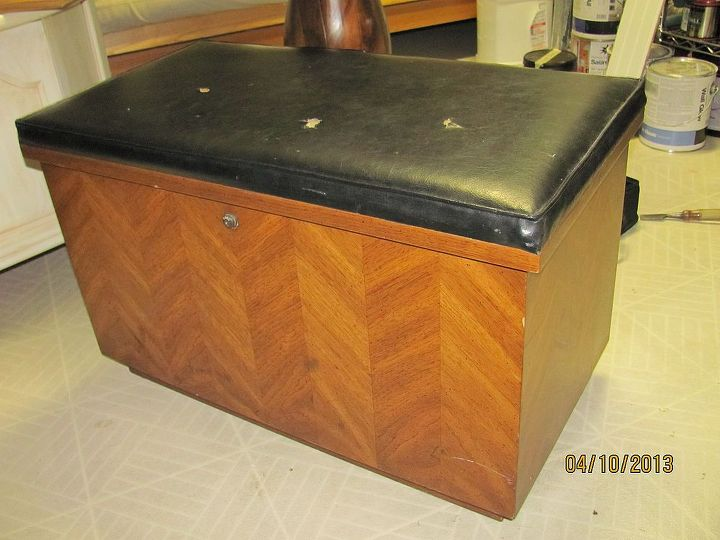 An old Lane cedar chest I picked up at a rummage sale in the 80's, which makes its probable age the 70's.