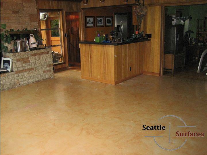 Designer Metallic Epoxy Dining Room Entry And Bath Concrete Masonry Ideas