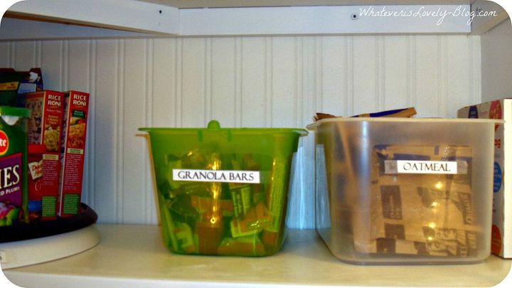 Organization in the pantry