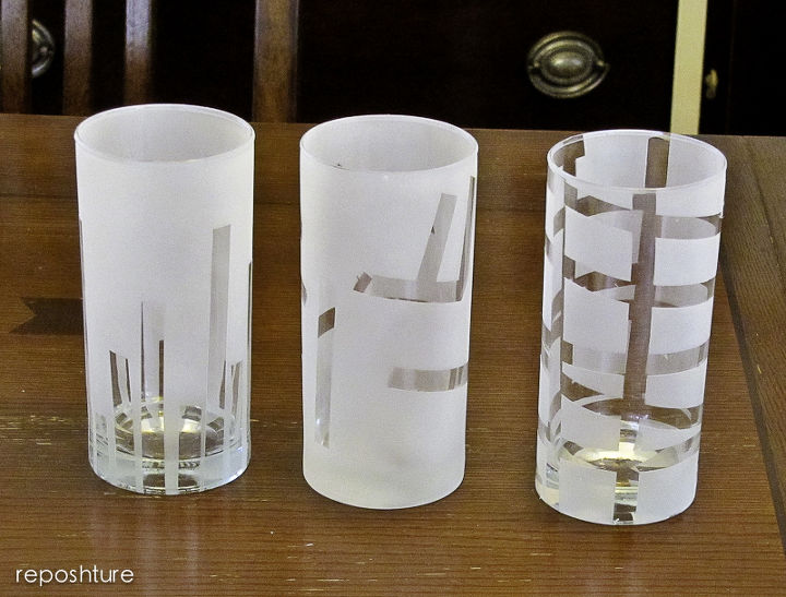 get the look of etched glass with spray paint, crafts, painting