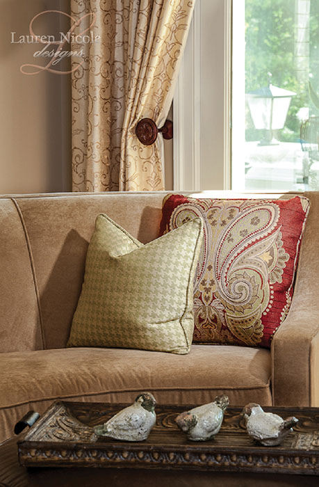 Pillows, pillows, pillows. An absolute must to pull together a room.