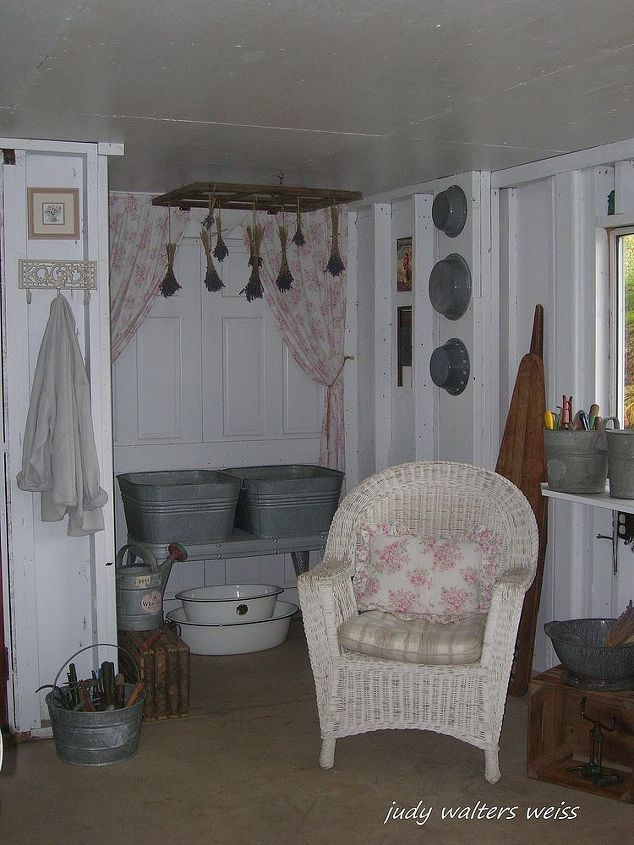 Every potting shed needs a comfy chair to relax in while reading all of those garden magazines!  :-)