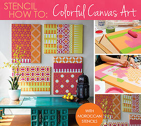 how to stencil using moroccan stencils for pretty custom wall art crafts home decor & How to Stencil Custom Canvas Wall Art Using Moroccan Stencils | Hometalk