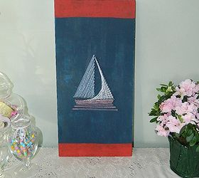 String Art Patterns Part - 34: Nautical String Art, Crafts, Various String Art Patterns Including This  Sailboat Can Be Found