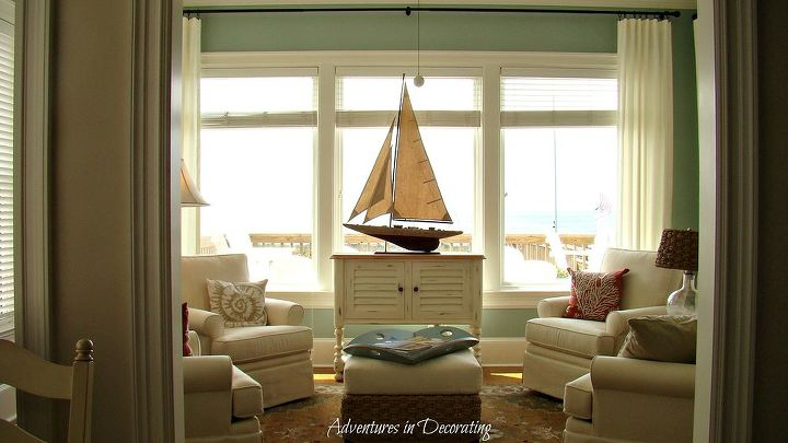 AFTER: a calmer, relaxing space!  We're going to be adding bamboo shades in the near future, too.
