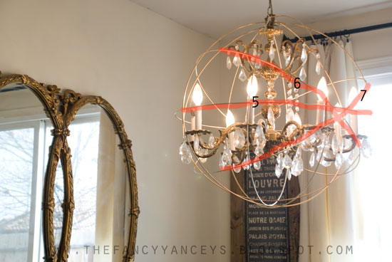 Diy Restoration Hardware Knock Off Orb Chandelier Crafts Home Decor How