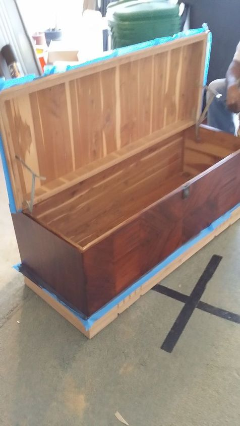 Sanded and Min wax wood finish (Lowes)....RedOak #215