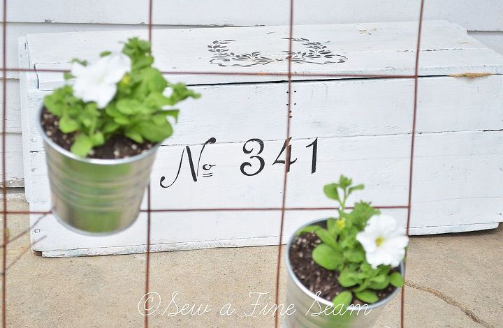 rusty fence project, flowers, gardening, repurposing upcycling, IKEA pots at 79 cents each