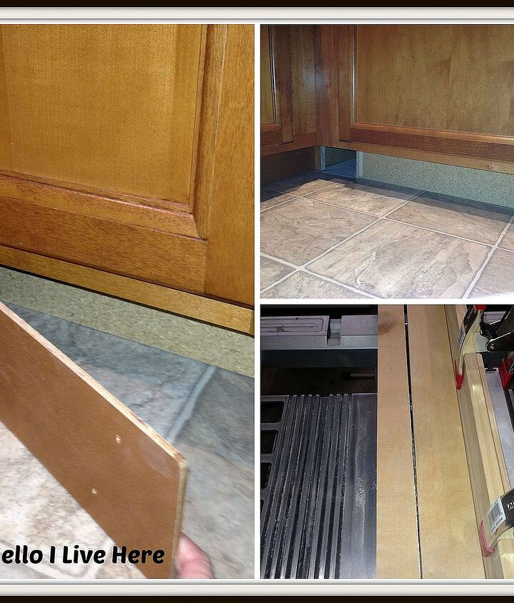 Removing toe kicks under cabinets to get project started