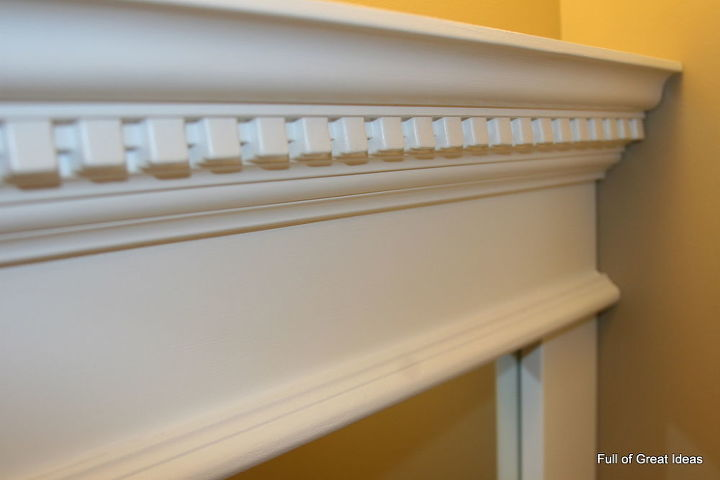 how to upgrade your builder grade mirror frame it cost us around 30, crafts
