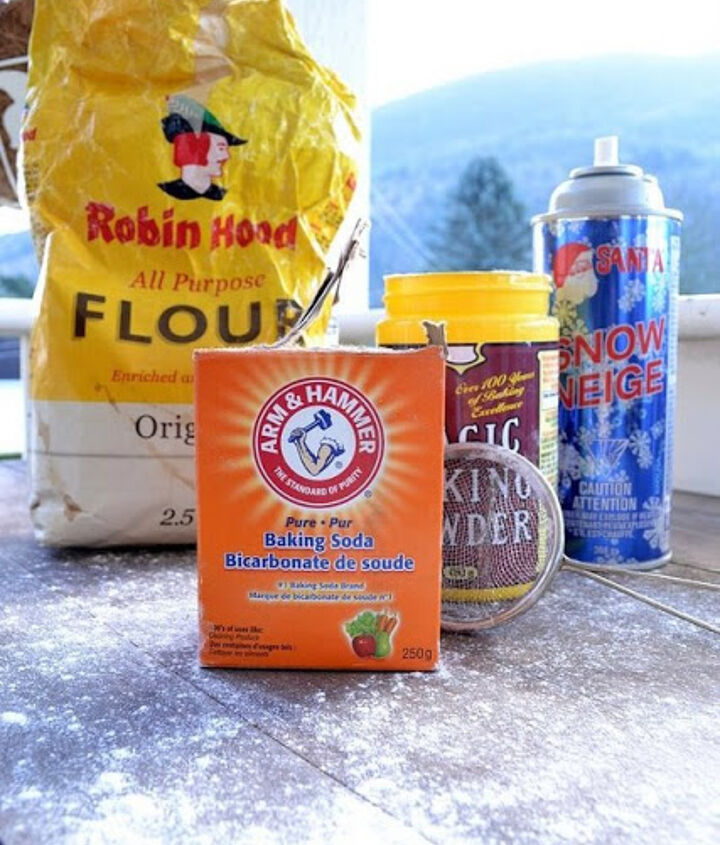 Anything white can be snow. I use some of these right on the floor, especially for Santa's baking soda footprints! Who else does that?