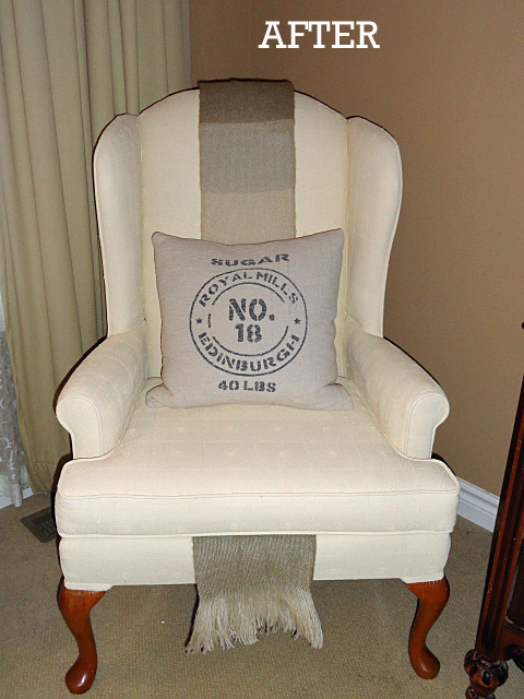 diy painted upholstered chair, home decor, painted furniture, rustic furniture, reupholster