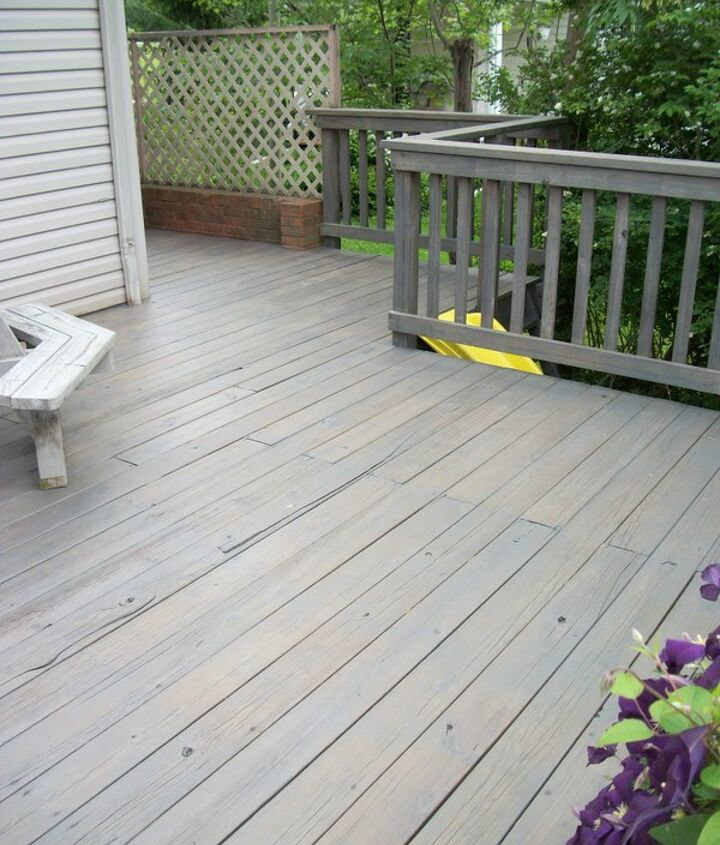 This is after we had finish the entire process of cleaning and staining the deck.