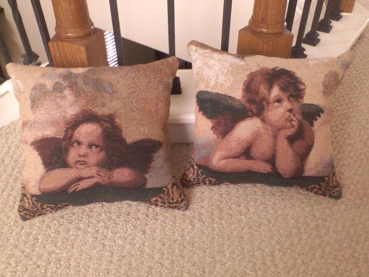 She took a runner and made these.  She loves Cherubs.