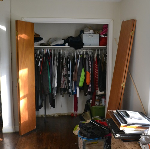 Here's what the closet looked like before.  Yuck!