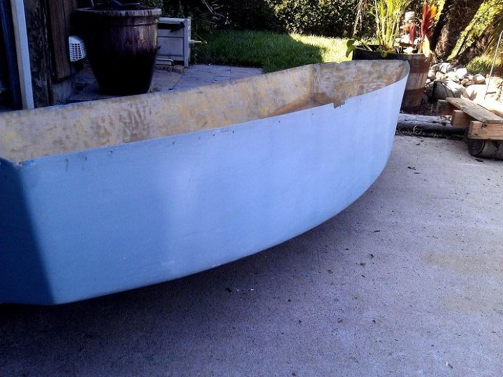 I painted the boat a calming blue/gray color.