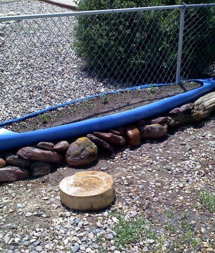 Kayak Planter (newly planted)