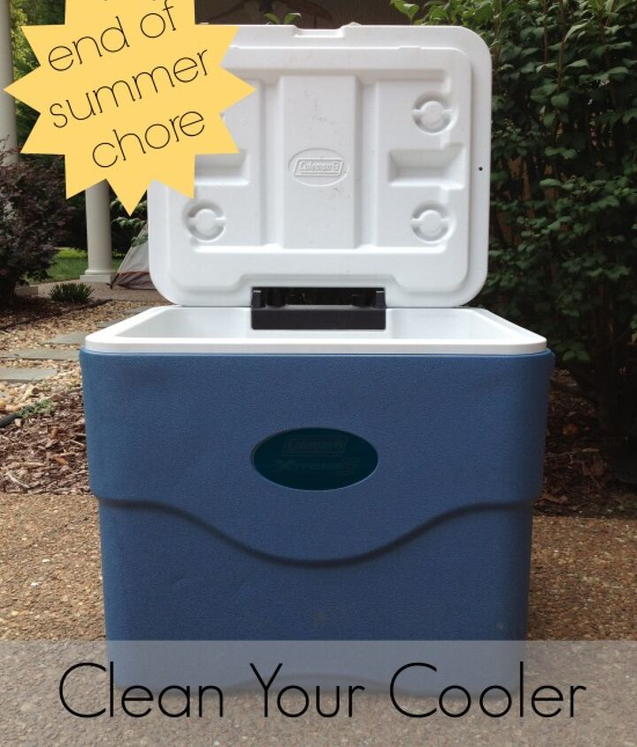 Clean your cooler immediately after use to help prevent stains, mildews, and odors.