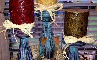 boring walmart candle pillars into hobby lobby candle pillars, crafts, Boring and bland to rustic and fabulous