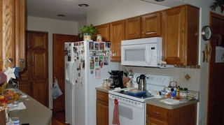 Paint Color For Small Galley Kitchen Oak Cabinets Flooring Hometalk