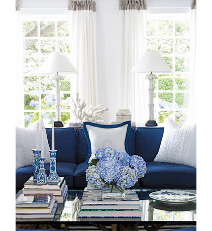 2013 hot decorating trend 11 anything embroidered knotted knitted ribbed or, home decor, mason jars, shabby chic, Sweater like pillows add coziness to this couch