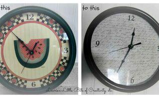 kitchen clock makeover, crafts, home decor, kitchen design, My kitchen clock makeover