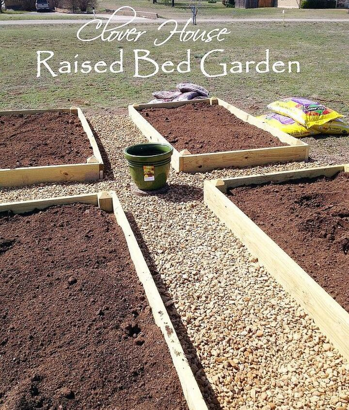 raised bed garden part 3 dirt and planting, diy, gardening, how to, raised garden beds, Beds full of dirt and ready for plants