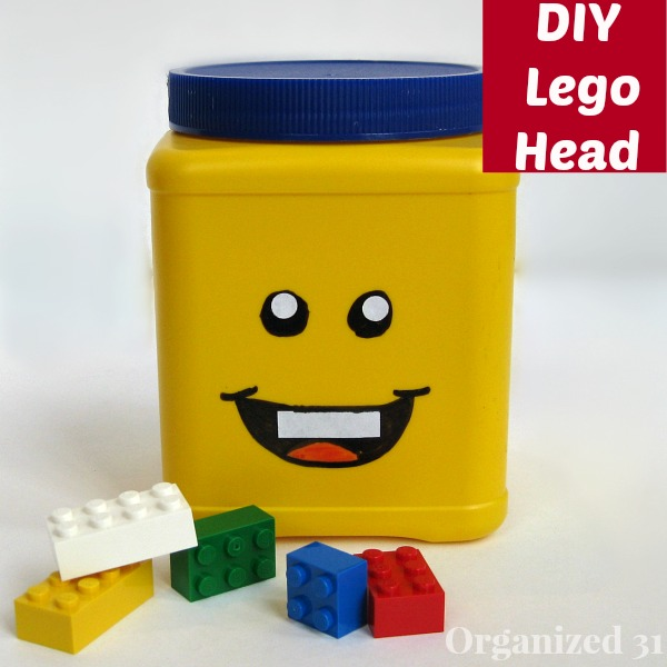 make your own lego head storage can, cleaning tips, repurposing upcycling, storage ideas, An easy upcycled project you can do in 30 minutes