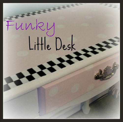 funky little desk, painted furniture