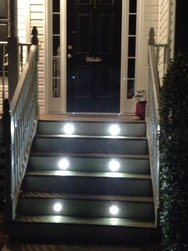 Diy stair lighting hometalk diy stair lighting decks electrical lighting stairs deck stair lighting kit aloadofball Gallery